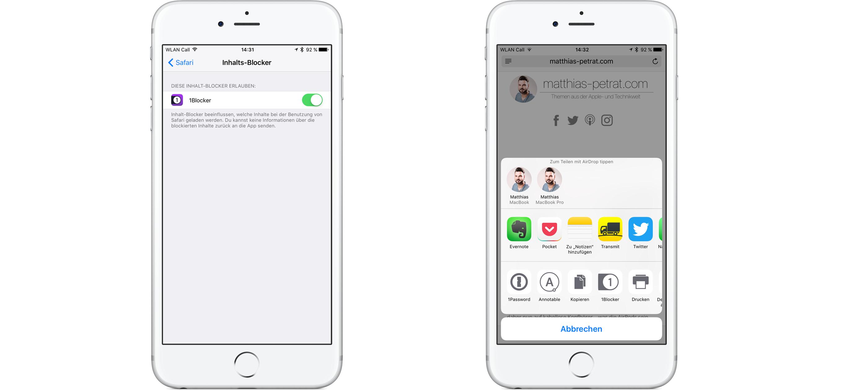 1-Blocker-iOS-Screenshot 1Blocker - werbefrei mit Safari unter iOS und macOS surfen