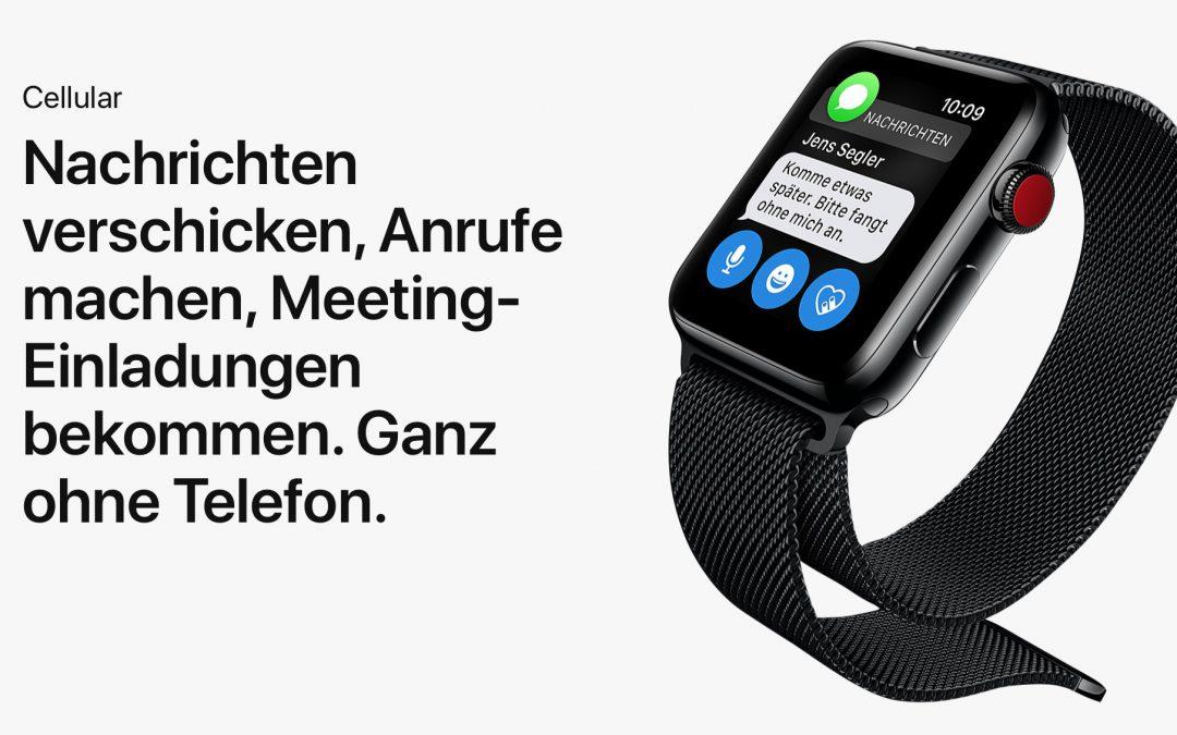 Apple Watch Series 3 mit Mobilfunk bei der Telekom – das müsst ihr wissen