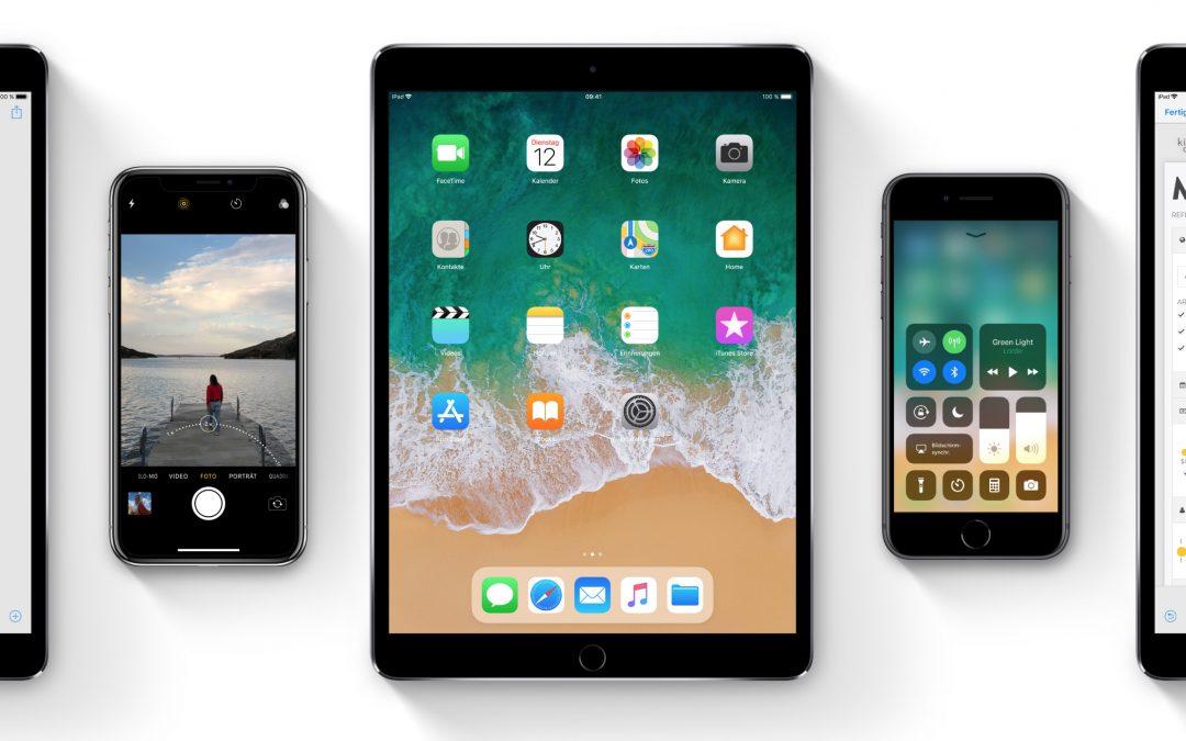 Apple gibt iOS 11, watchOS 4 und tvOS 11 an alle Benutzer frei