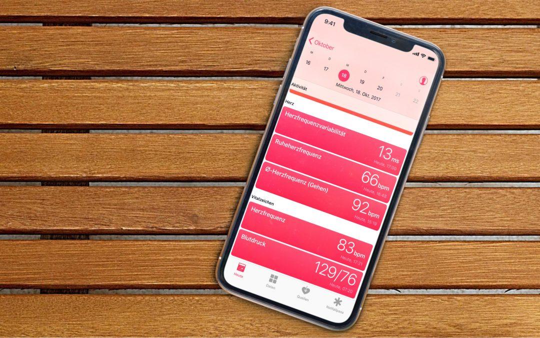 Wie du die Health-App mit deinen Körperdaten befüllst
