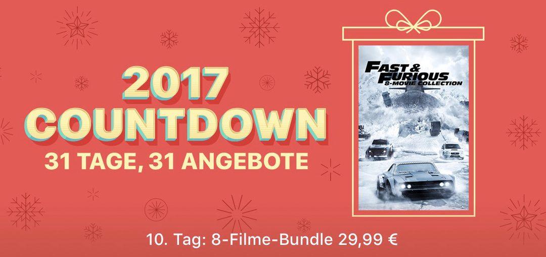 31 Tage, 31 Angebote: 10. Tag –  Fast & Furious Filmpaket mit 8 Filmen für 29,99€