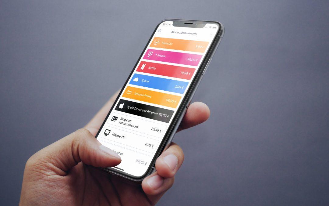 Bobby – behalte mit einer App all deine Abos im Blick