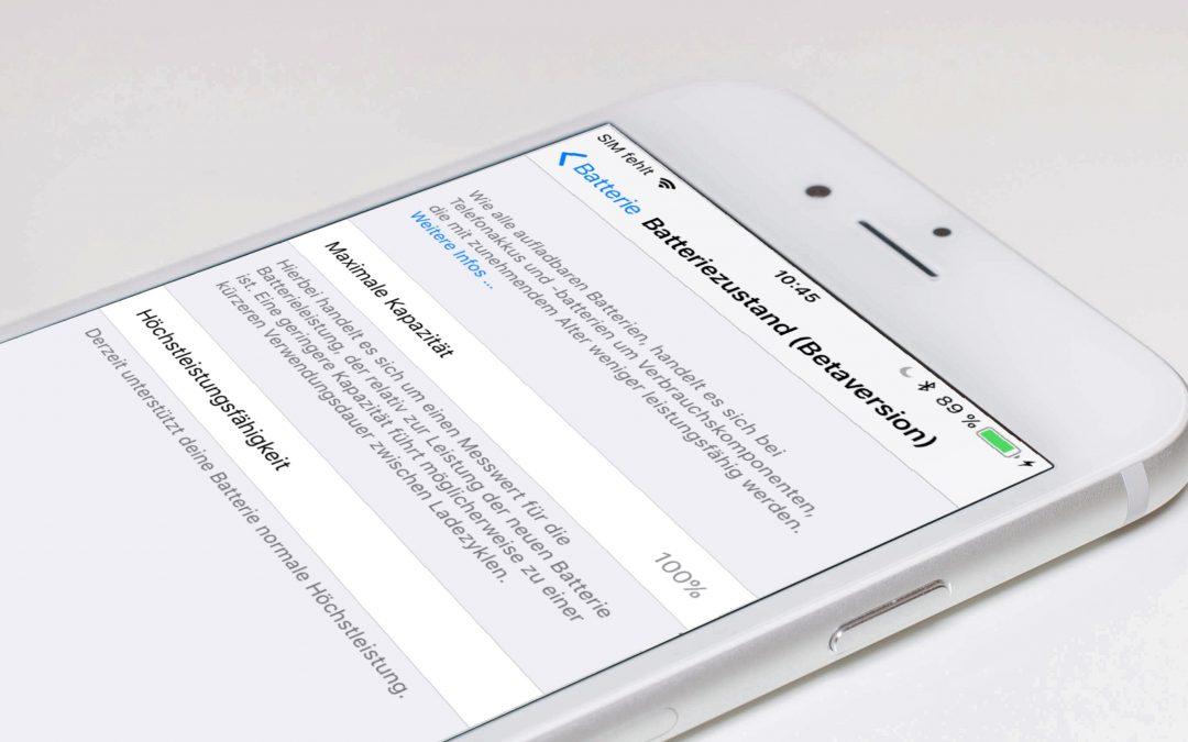 Update: iOS 11.3 (Beta 2) lässt erste neue Batteriefunktionen erkennen