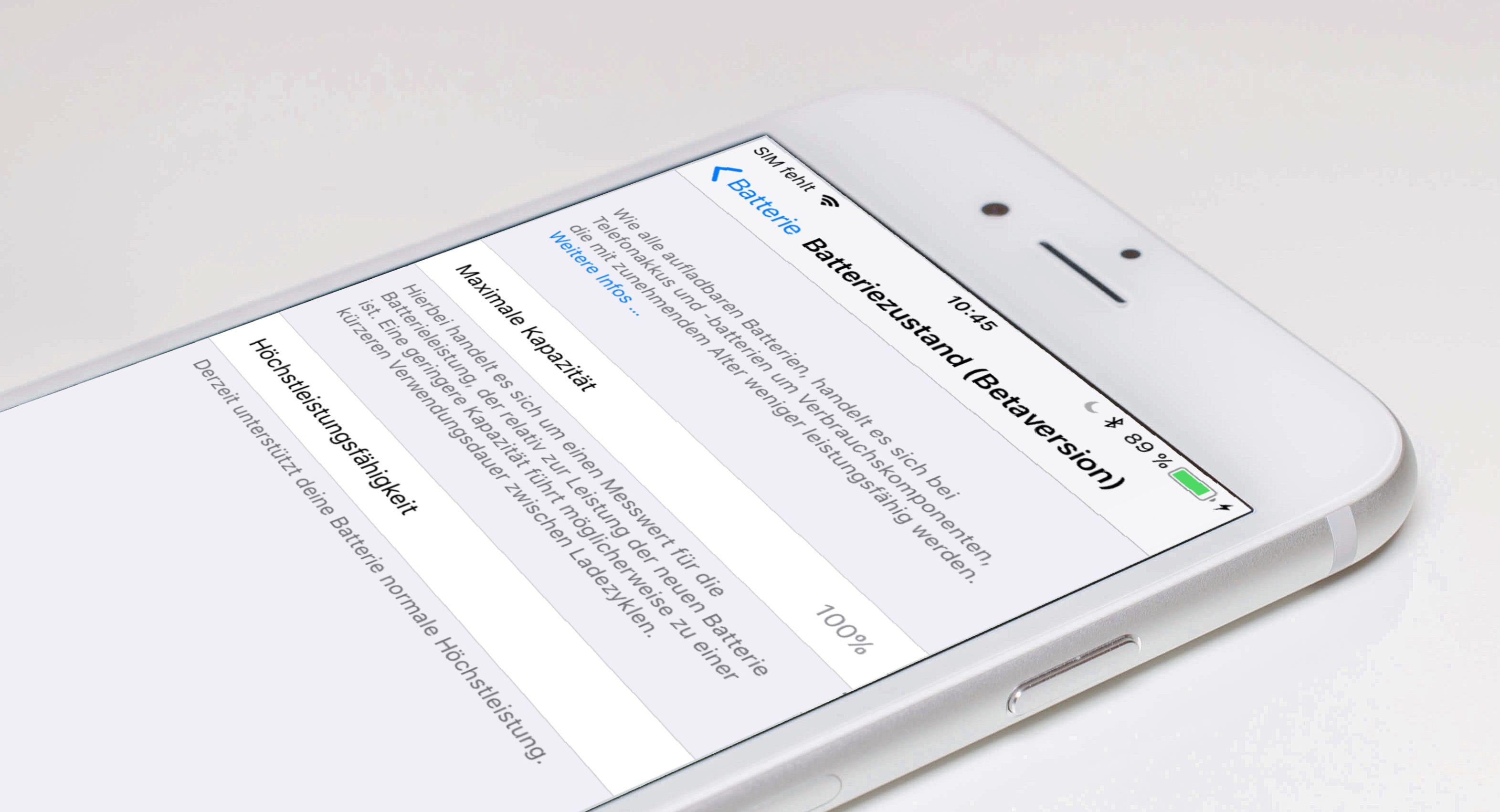 Update: iOS 11.3 (Beta 2) lässt erste neue Batteriefunktionen ...