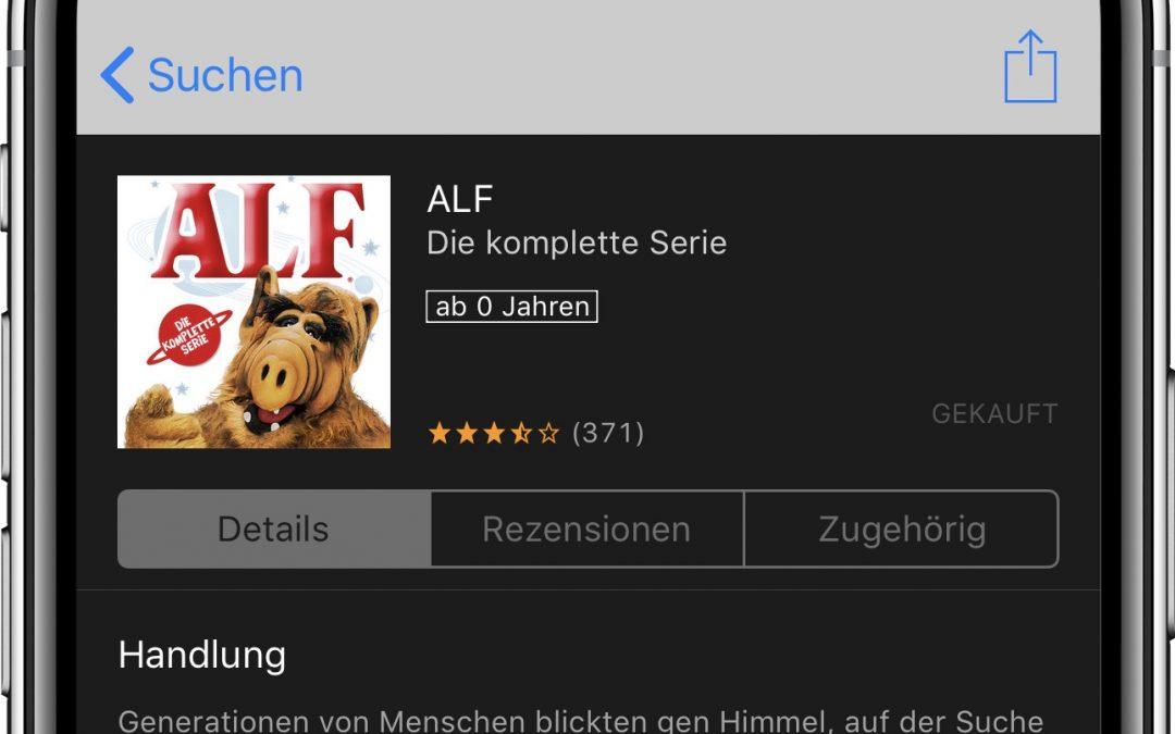 Komplette Serie von Alf derzeit für 19,99€ bei iTunes verfügbar