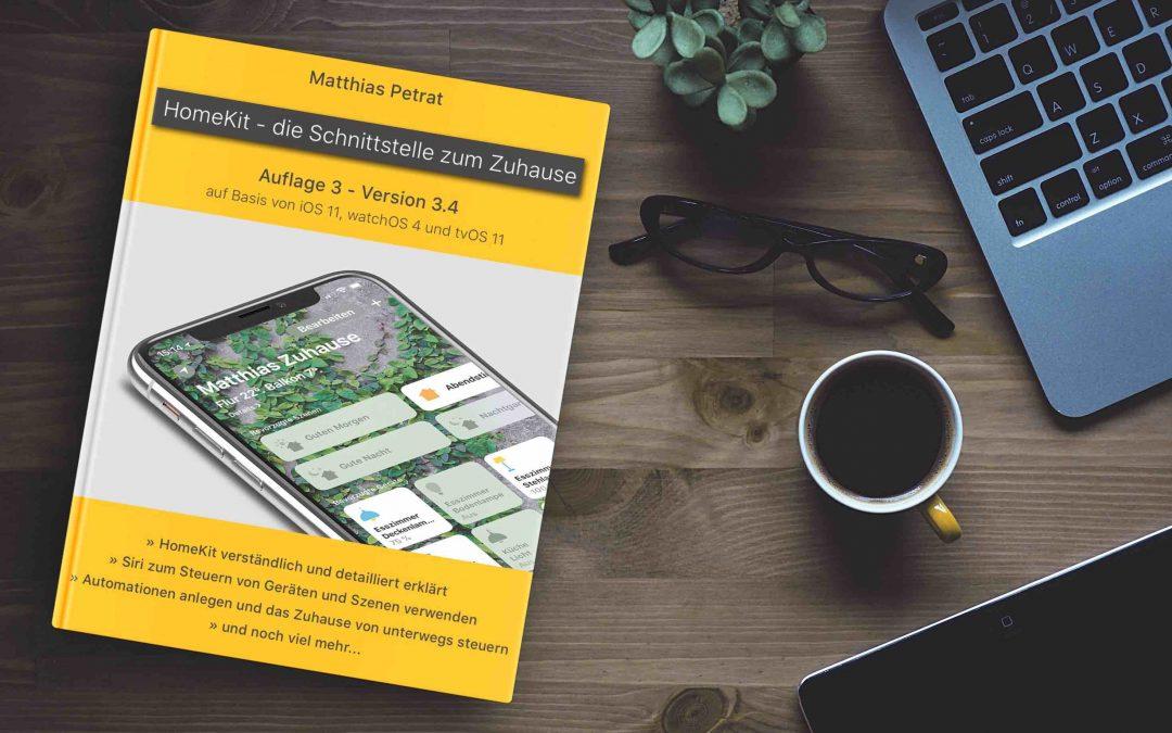 """""""HomeKit – die Schnittstelle zum Zuhause"""" – Version 3.4 der 3. Auflage ist da"""