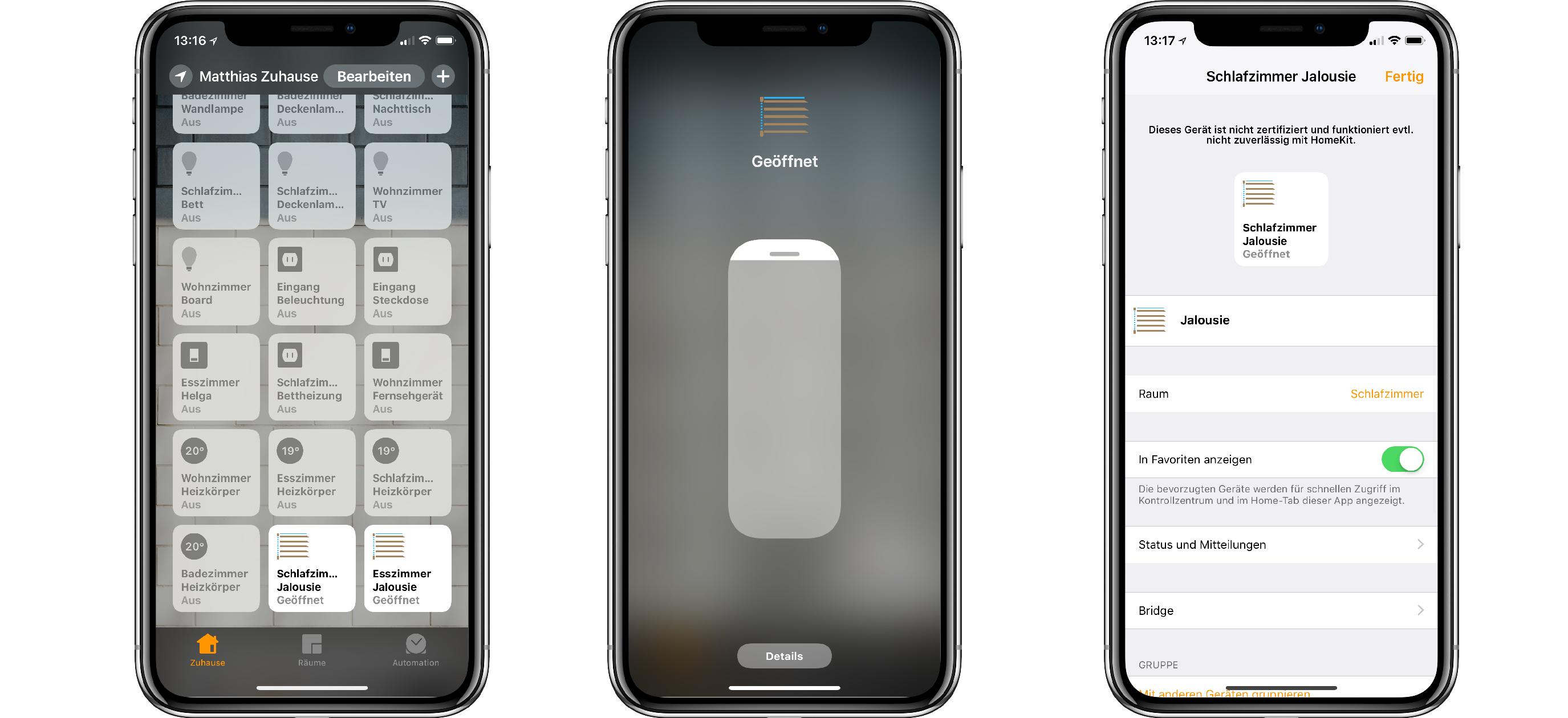 Rademacher_Gurtwickler_iOS_Screenshots_02 Anleitung: Rollladen mit elektrischem Gurtwickler in HomeKit nutzen