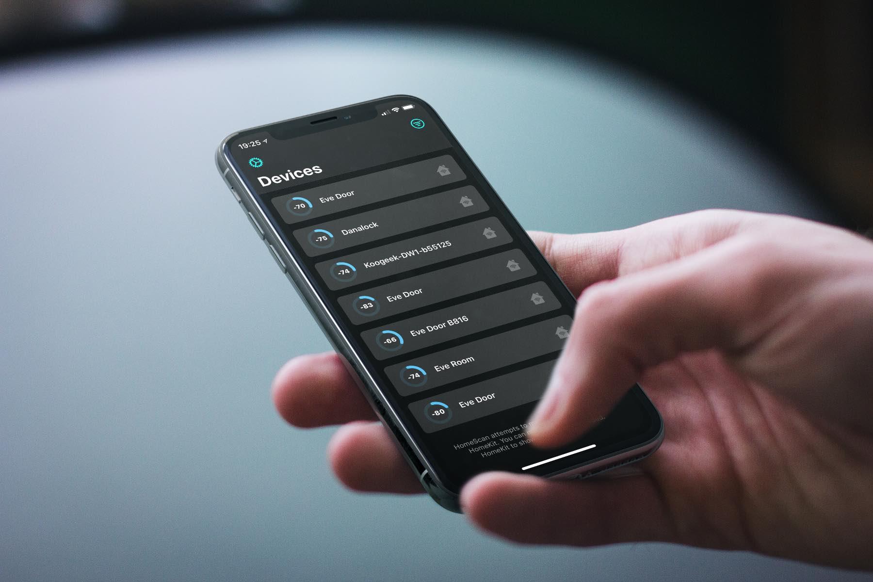 HomeScan-Artikelbild HomeScan für HomeKit - diese App hilft dir die Bluetoothreichweite von HomeKit-Geräten zu optimieren