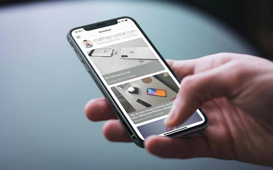 """Endlich! Die App für den Blog """"matthias-petrat.com"""" ist da."""