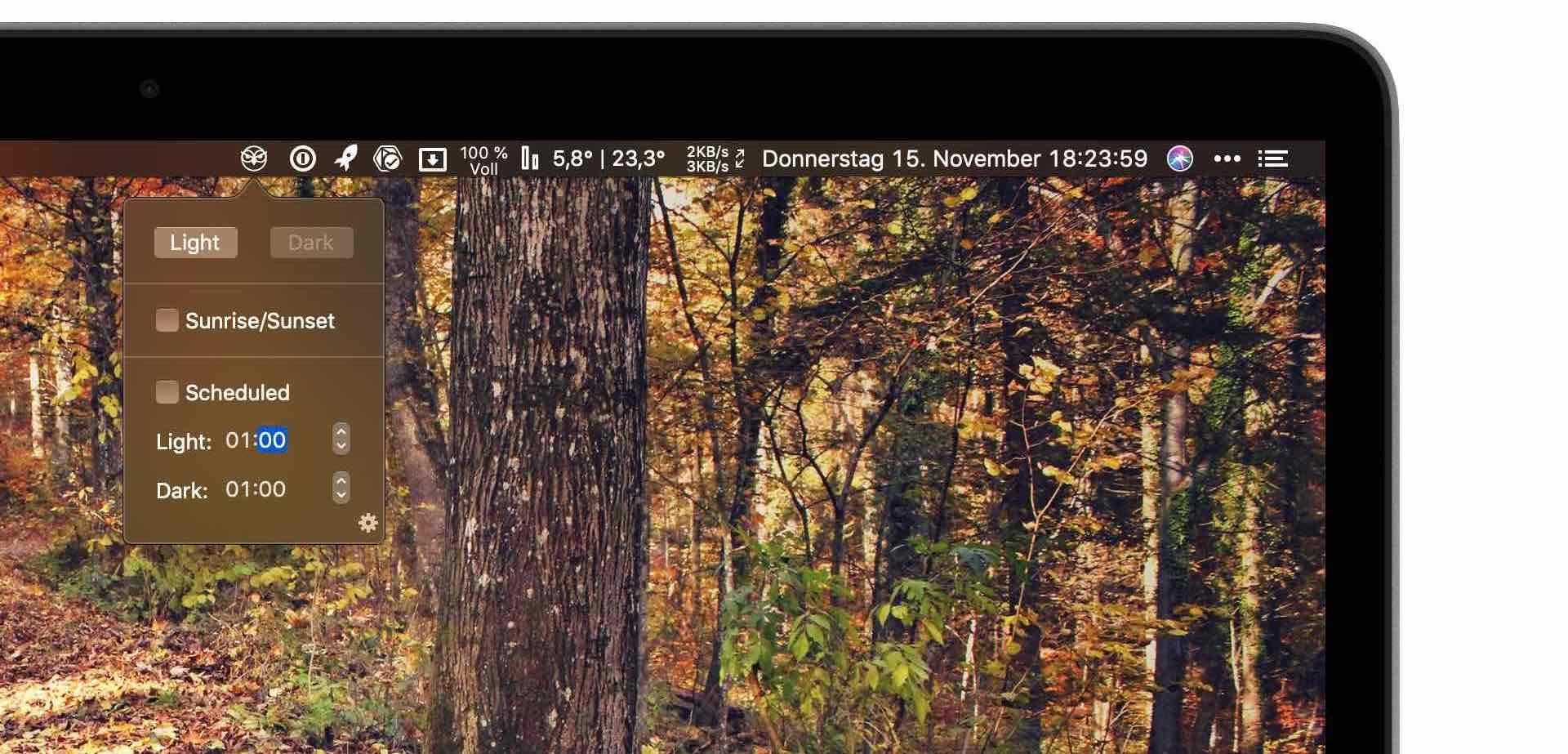 Nightowl-_Artikelbild02 Nightowl - über die Menüleiste den Darkmode schnell ein- und ausschalten