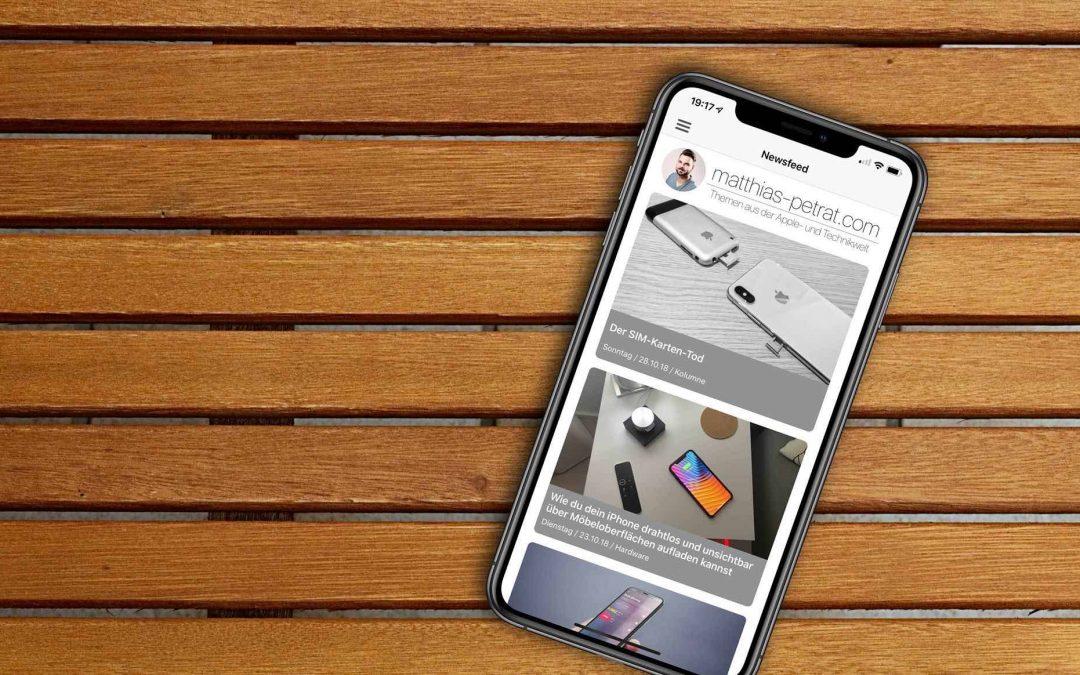 Ab in den AppStore mit euch: Version 1.1 der Blog-App ist da