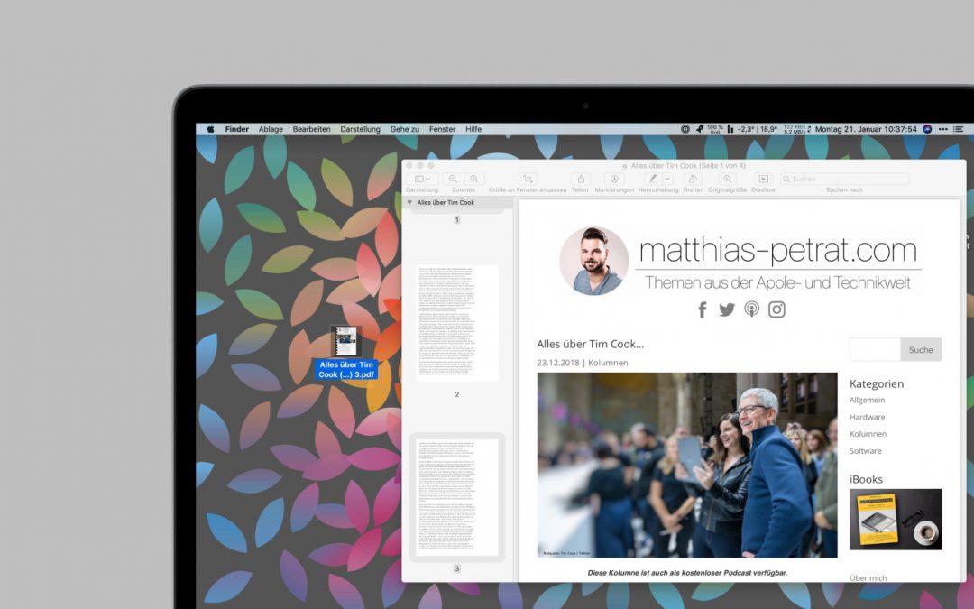 Tipp: Wie du am Mac ein PDF-Dokument aufteilst