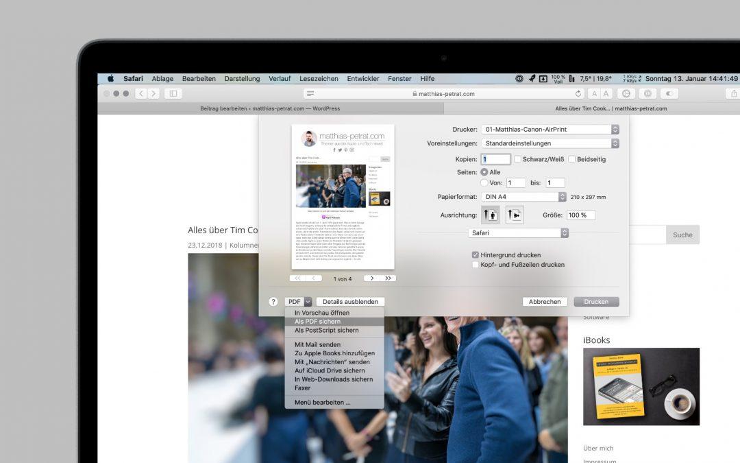 Tipp: Wie du am Mac ein PDF-Dokument erstellst