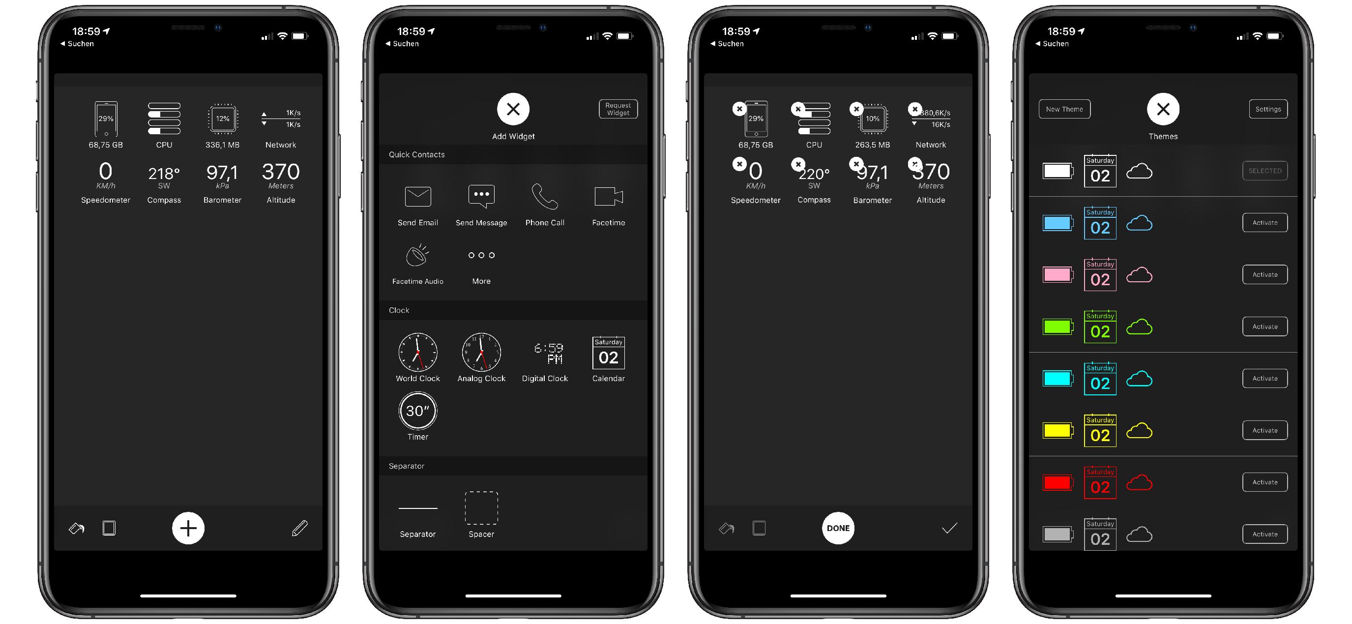 Vidgets_iOS_App_iPhone_Widget Vidgets - die kleine iOS-App für versteckte Systemeinsichten