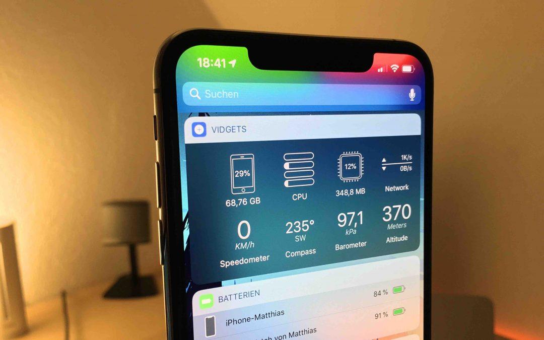 Vidgets – die kleine iOS-App für versteckte Systemeinsichten