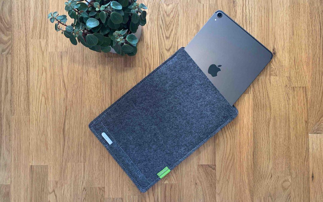 Wollfilz-Hülle für das iPad von WildTech – funktioneller und stylischer Geräteschutz