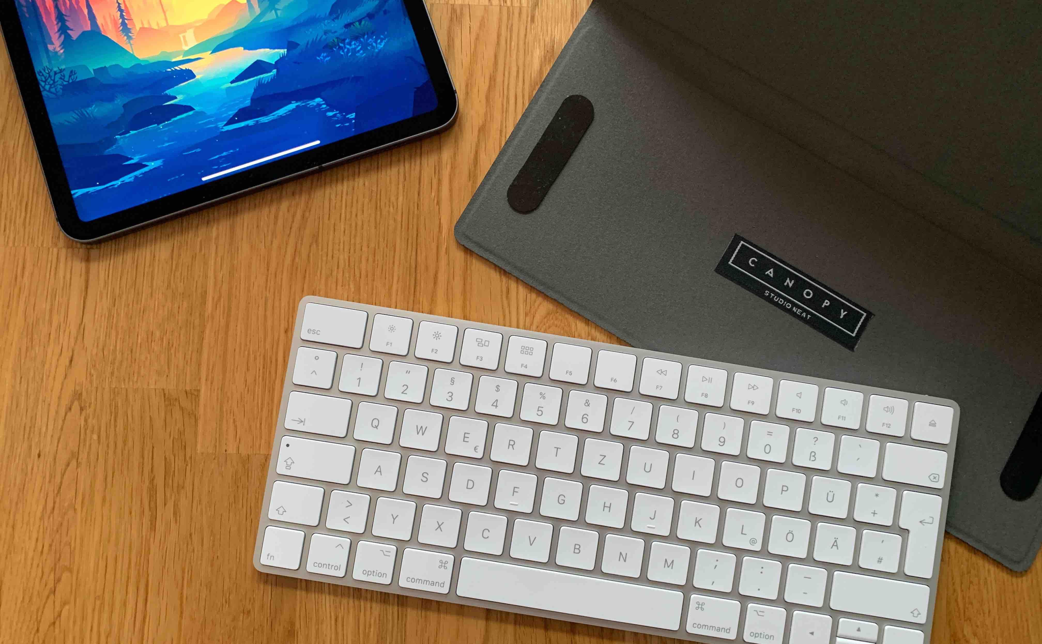 Canopy_StudioNeat_iPad_Keyboard_Review3 Canopy von Studio Neat - die Apple Magic Tastatur inkl. Aufstellfunktion für das iPad