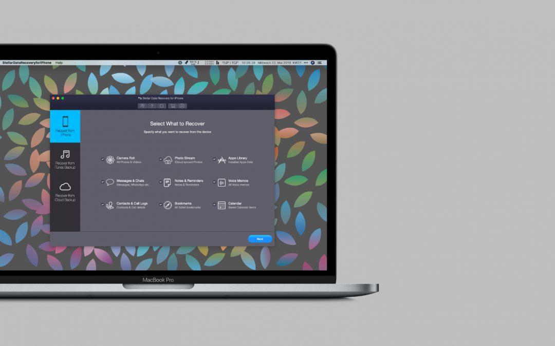 Datenrettungssoftware von Stellar – gelöschte Daten auf iOS-Geräten wiederherstellen