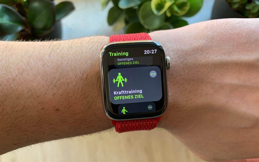 Eigene Trainingsaktivitäten auf der Apple Watch – so geht's