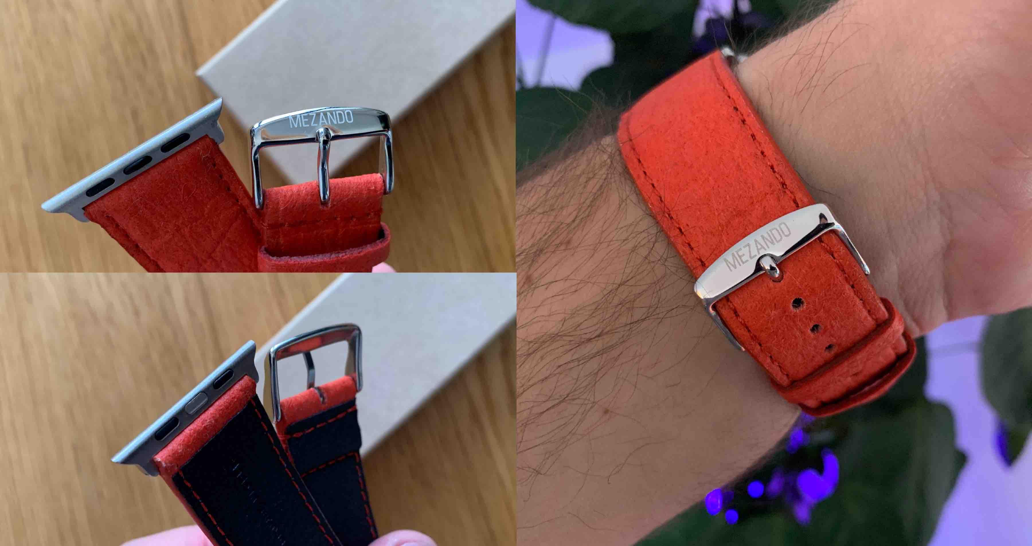 Mezando_Apple_Watch_Watchband_Armband_Uhrenband_Review2 Armbänder für die Apple Watch von Mezando - Ananasfasern statt Leder