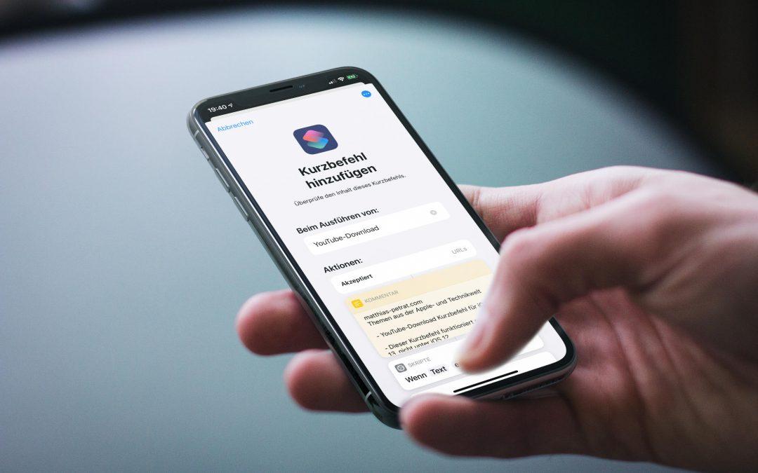 Kurzbefehl für iOS 13 und iPadOS 13 – lade dir YouTube-Videos als Video oder Audio herunter