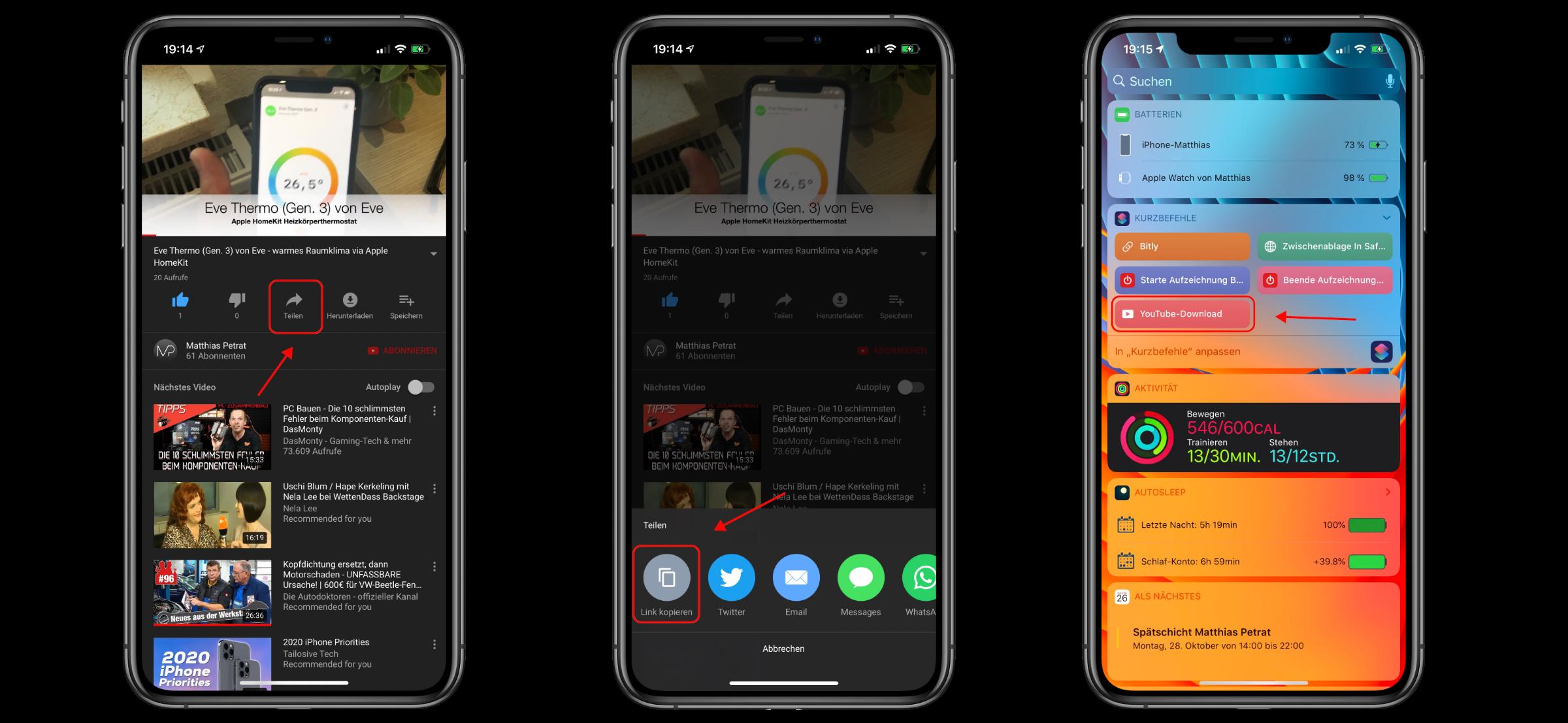 Kurzbefehl_YouTube_Download_Video_Audio_Siri_Shortcut_iOS3 Kurzbefehl für iOS 13 und iPadOS 13 - lade dir YouTube-Videos als Video oder Audio herunter