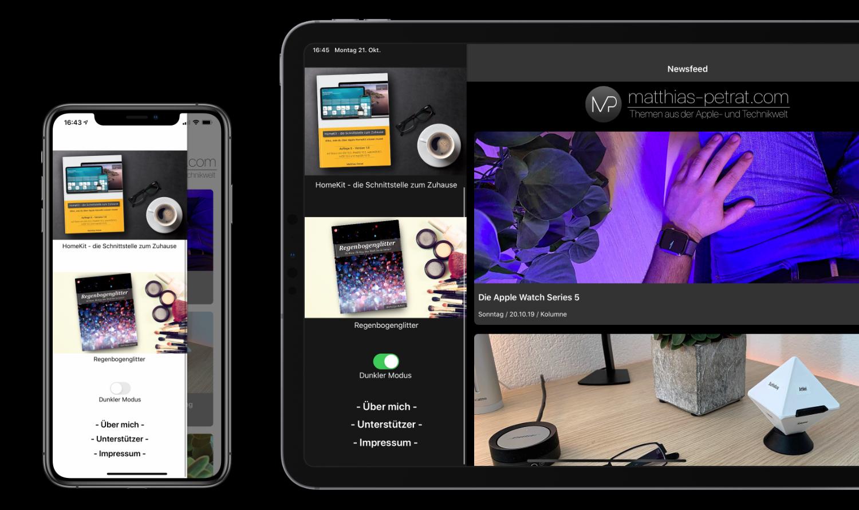 App-2.0-Artikelbild-03 Matthias Petrat 2.0 - die frische App für iOS und iPadOS ist da!