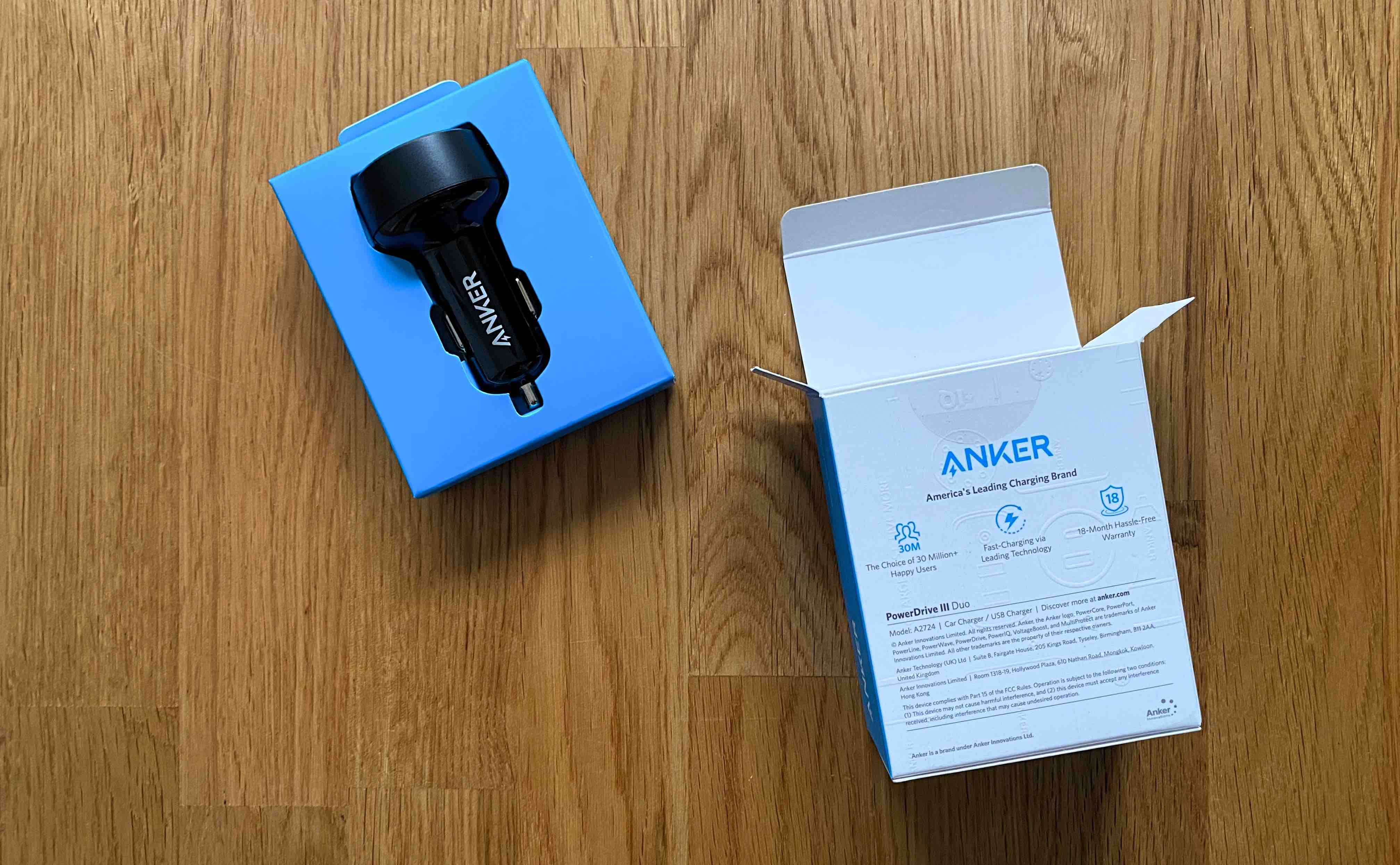 Anker_KFZ_PD_Power_Delivery_USB_C_USBC_Ladegerät_Car_Auto1 KFZ-Ladegerät mit 2 x USB-C und Power Delivery von Anker