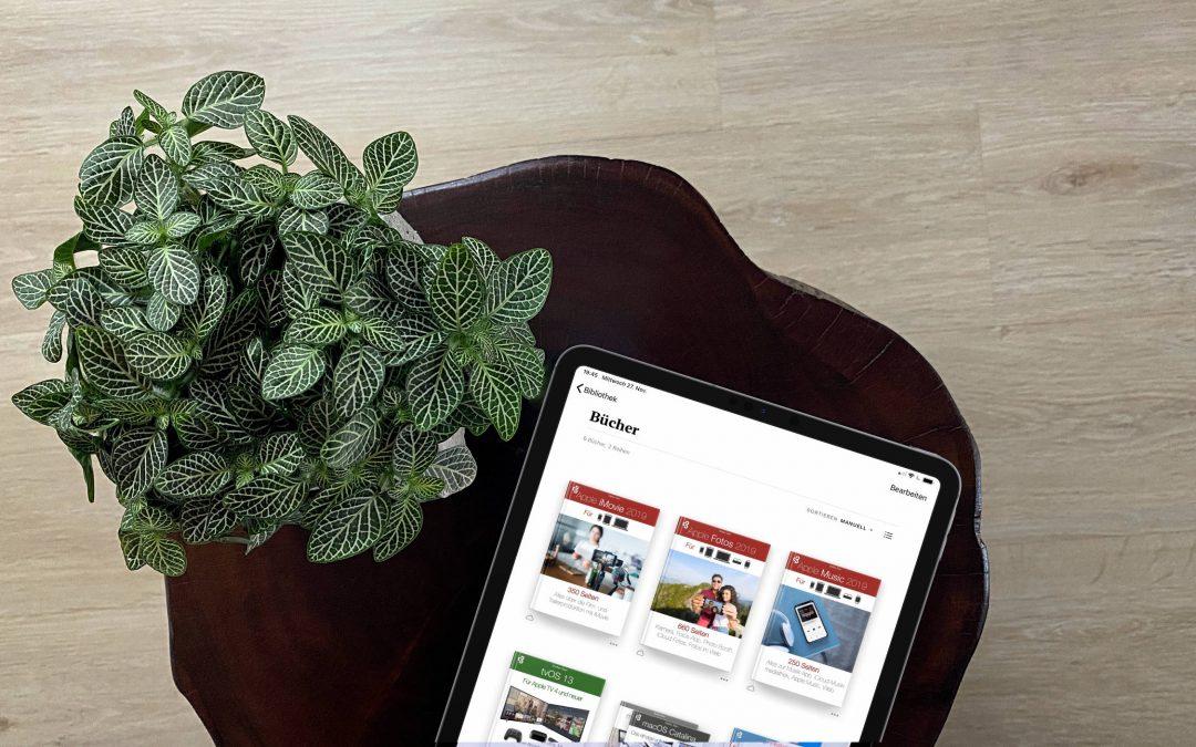 Hilfe mit Fachbüchern zu iOS 13, iPadOS 13, tvOS 13, macOS Catalina, Apple Music, Fotos und iMovie