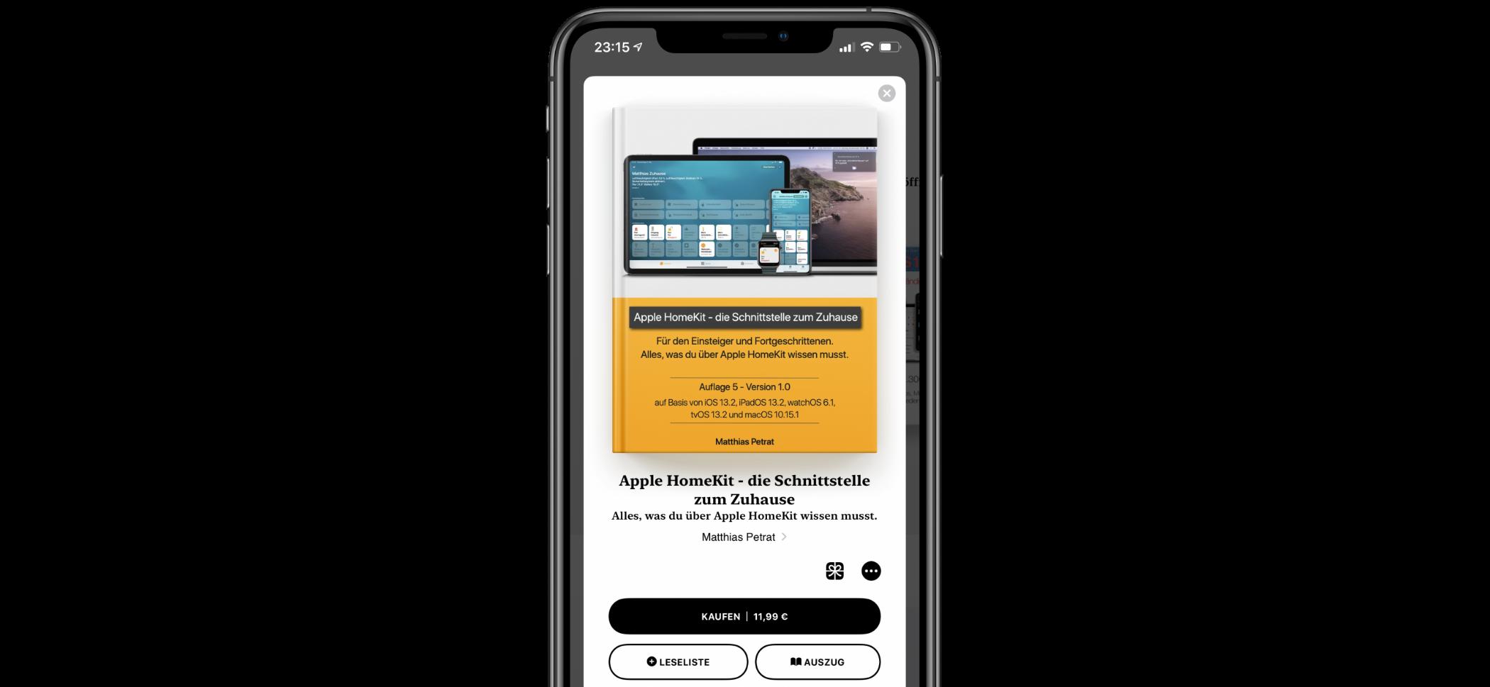 "iPhone-Screenshot-Apple-HomeKit-die-Schnittstelle-zum-Zuhause-Buchauflage-5 ""Apple HomeKit - die Schnittstelle zum Zuhause"": Die 5. Buchauflage ist da"