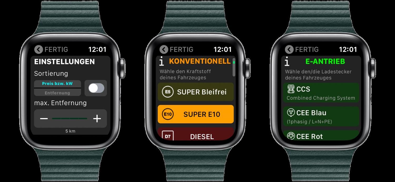 """Fuelz_Apple_Watch_nativ_watchOS_Ladestation_Tanken_Aufladen_App_Review2 """"Fuelz!"""" für die Apple Watch - Stationen zum Tanken oder Laden finden"""