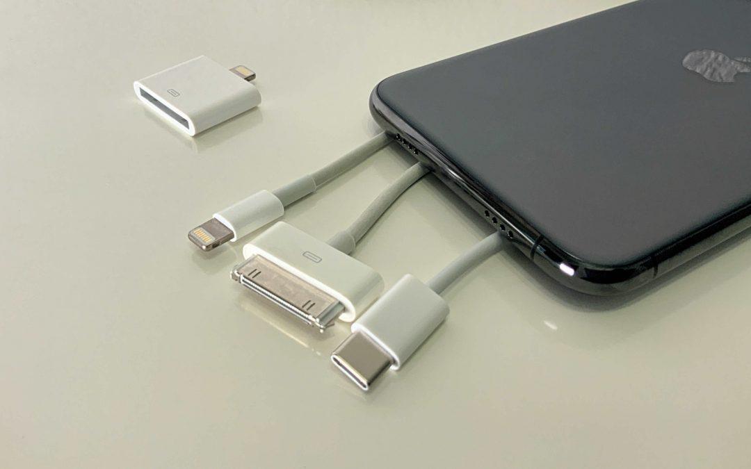 Keinerlei Kabelanschluss für das iPhone