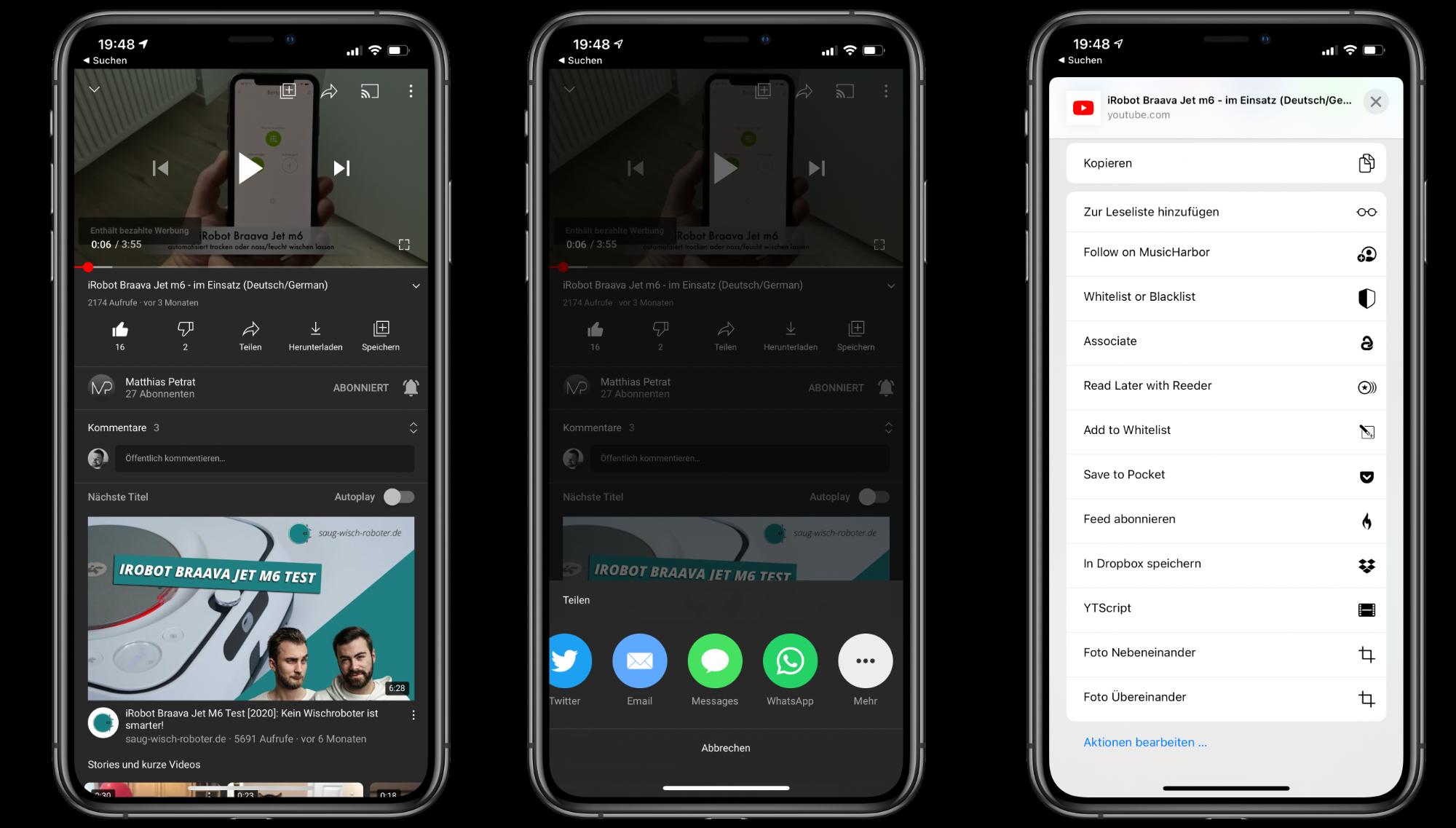 """22YTScript22-Kurzbefehl-lade-YouTube-Videos-als-VideoAudio-auf-dein-iPhoneiPad-herunter4 """"YTScript"""" Kurzbefehl - YouTube-Videos auf iPhone/iPad herunterladen"""