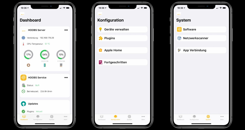 Homemanager_Apple_HomeKit_Homebridge_Hoobs_App2 Homemanager 2.0 - einfache App-Verwaltung von Homebridge unter Hoobs 3