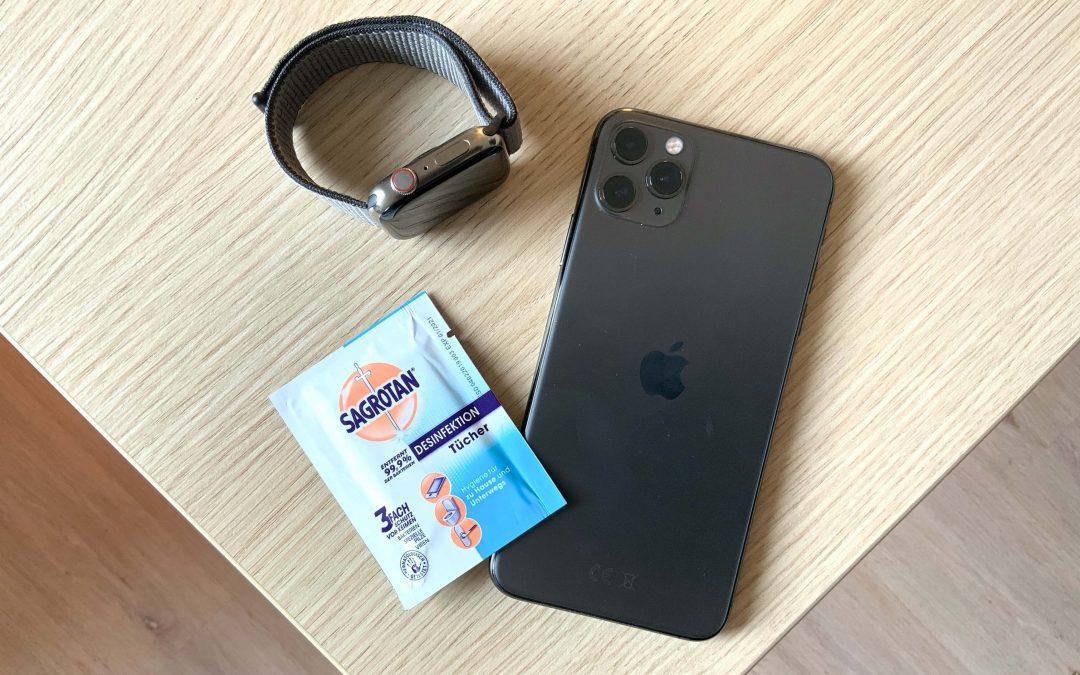 Schutz gegen Corona Virus: iPhone, iPad, Apple Watch, Mac und Co. korrekt desinfizieren