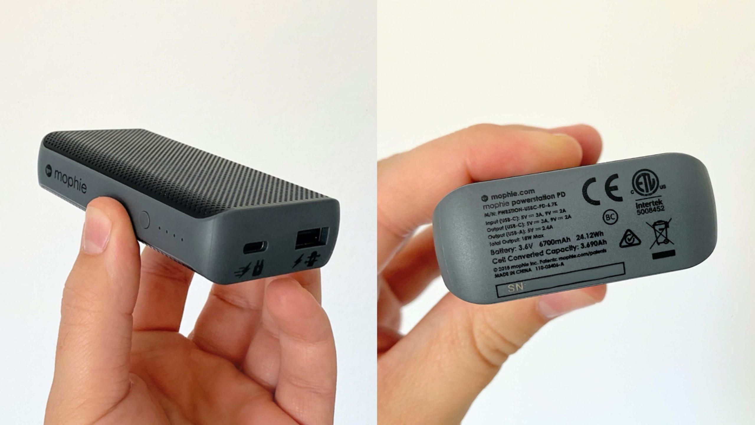 Mophie_Powerstation_Powerbank_6.700_mAh_USB-A_USB-C_Anschluss1-scaled Mophie Powerstation mit 6.700 mAh und USB-C PD - ein Kraftpaket für die Hosentasche