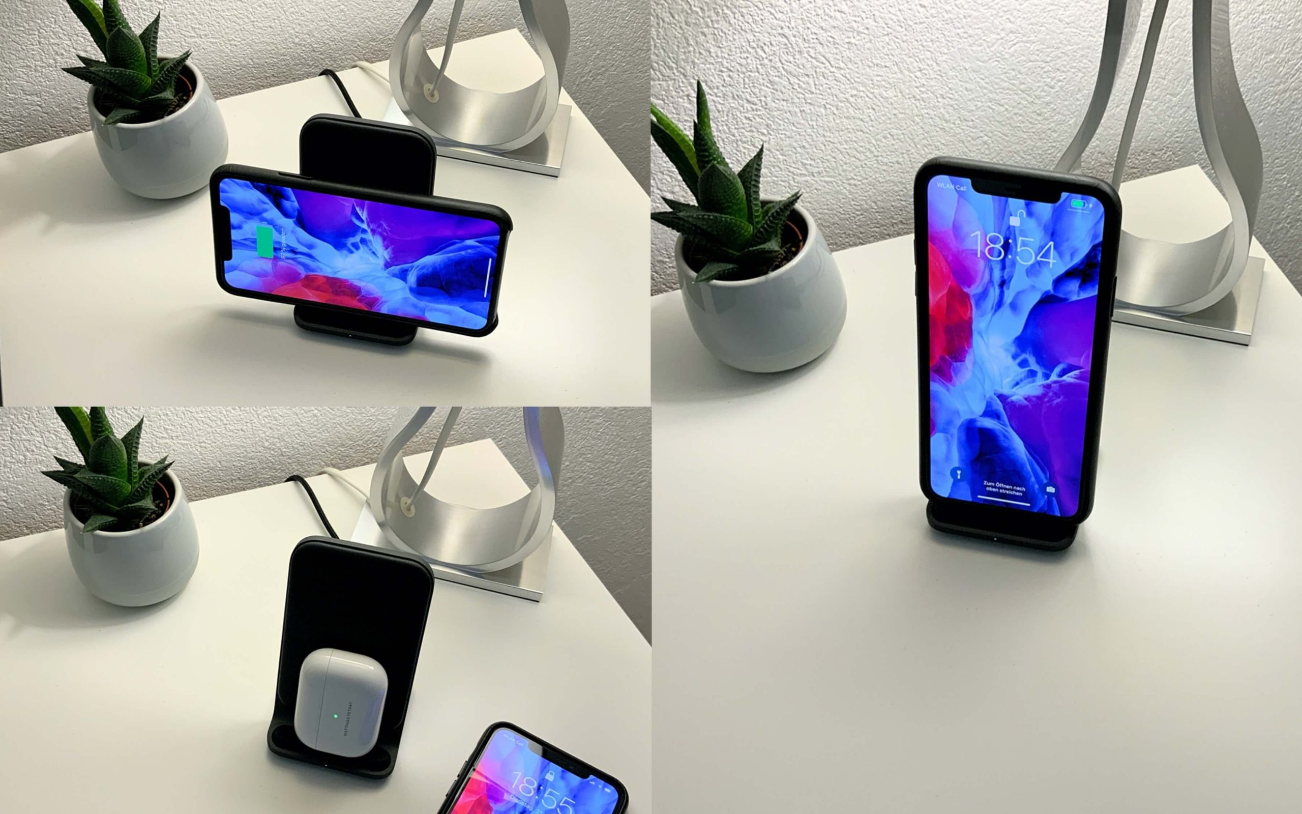 Nomad_Base_Station_Stand_iPhone_AirPods2-scaled Base Station Stand von Nomad - das iPhone drahtlos und elegant aufladen