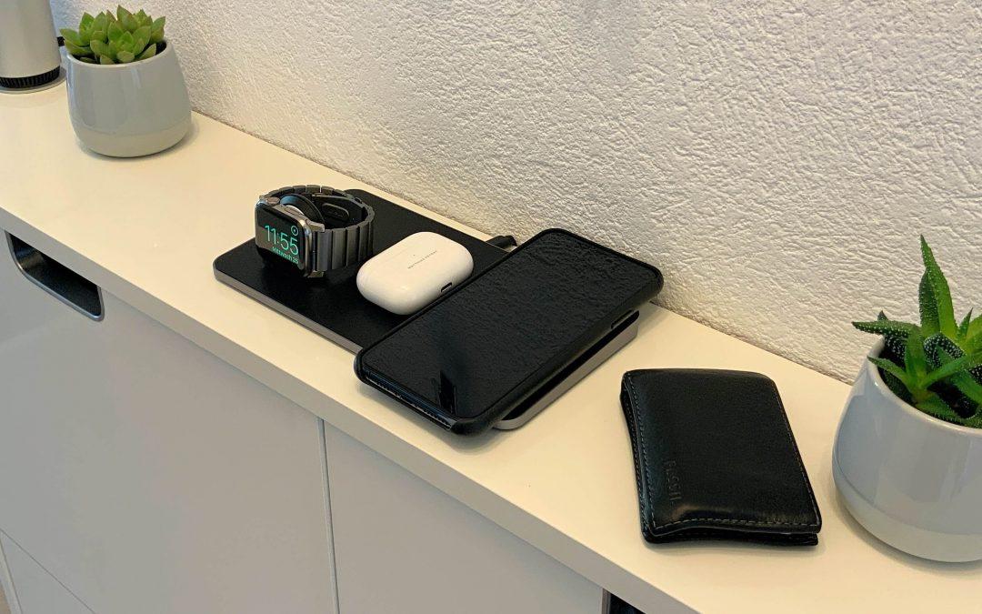 Trio Wireless Charging Pad von Satechi – iPhone, Apple Watch und AirPods zeitgleich aufladen