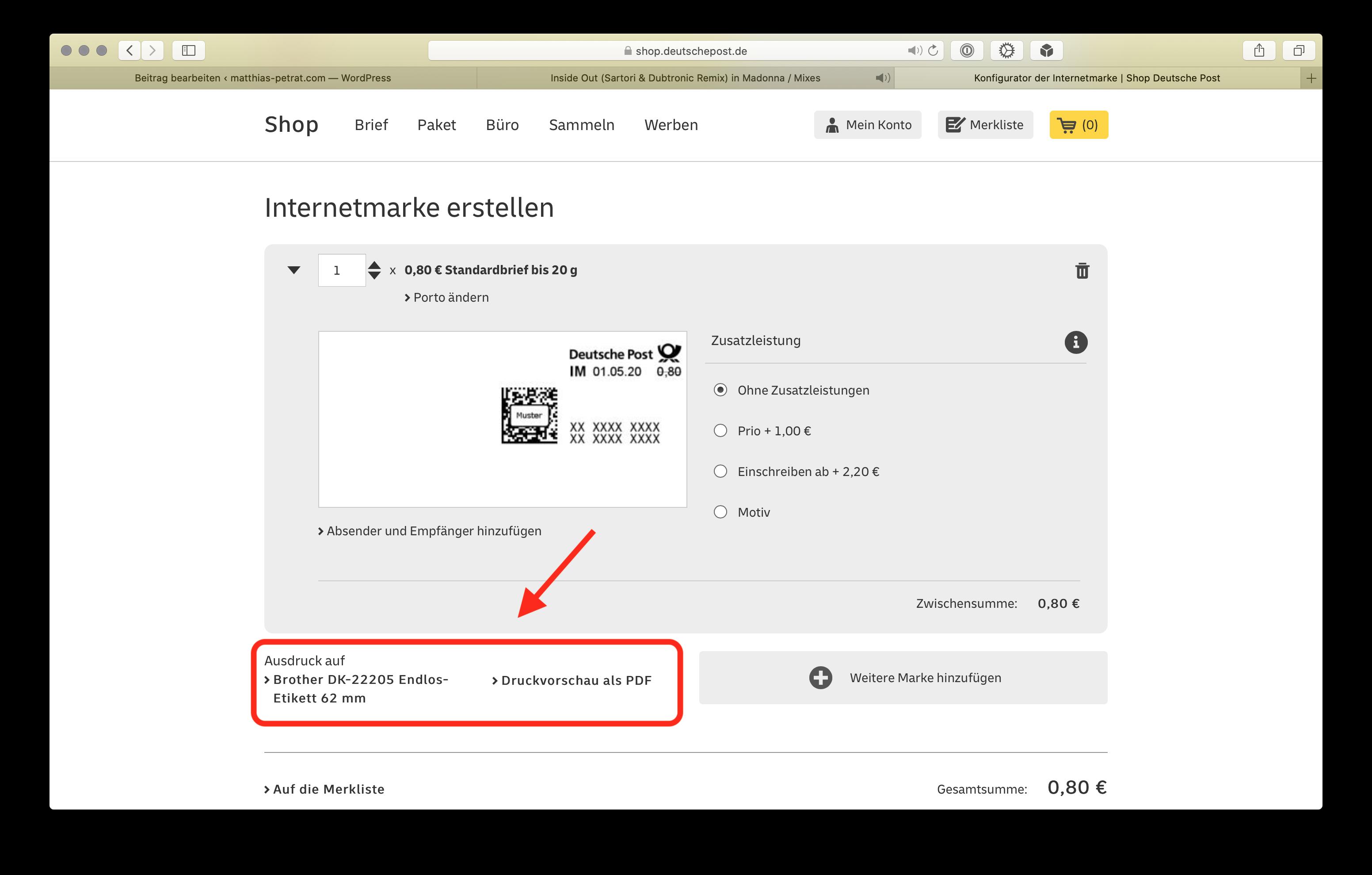 Anleitung-Briefmarken-Paketlabel-Adresslabel-und-Co.-zu-Hause-drucken1 Brother QL810W Labeldrucker - Briefmarken, Paketlabel, Adresslabel und Co. zu Hause drucken