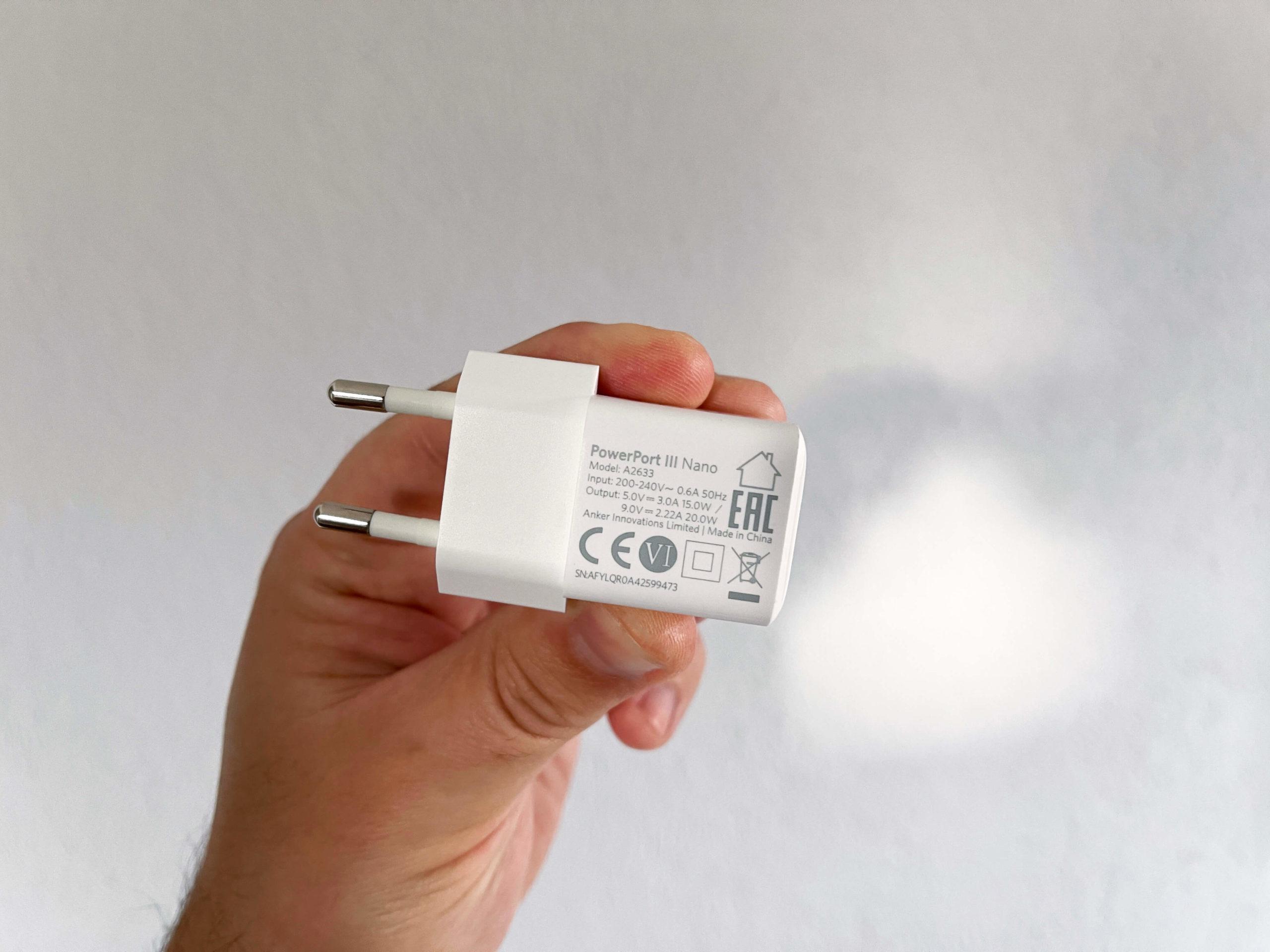 20-Watt-Ladegeraet-mit-USB-C-PD-3.0-von-Anker-klein-und-kraftvoll3-scaled PowerPort 3 von Anker - 20 Watt via USB-C Power Delivery 3.0 im Handformat