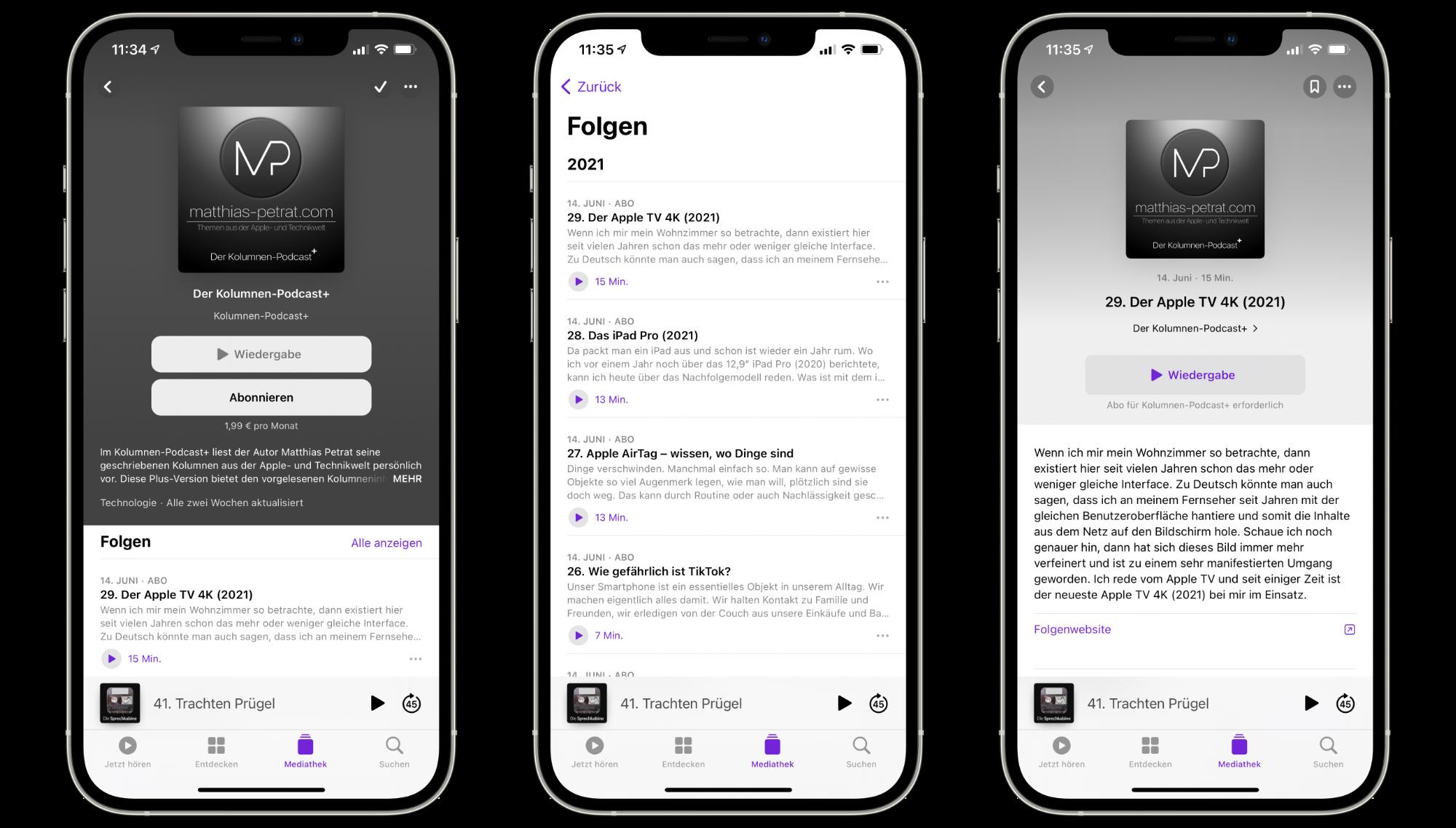 matthias-petrat-Kolumnen-Podcast-Abo-Apple2 Werbefreies Hören und früherer Episodenzugang: Der Kolumnen-Podcast+ ist da